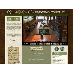 MickDuffs.com – a restaurant & brewery website