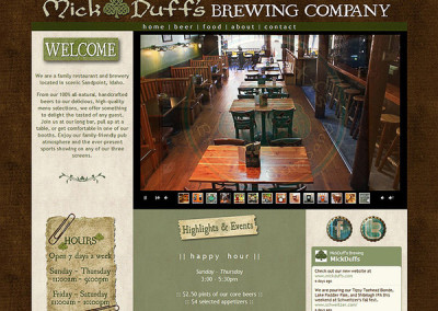 MickDuffs.com – a restaurant & brewery website