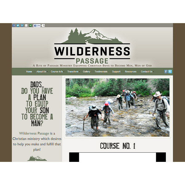 WildernessPassage.org - a Christian camping ministry website