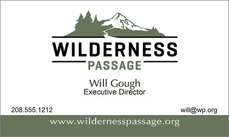 Business Card - Wilderness Passage
